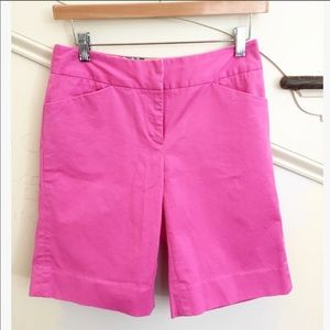Lilly Pulitzer Pink Bermuda Chipper Cotton Shorts